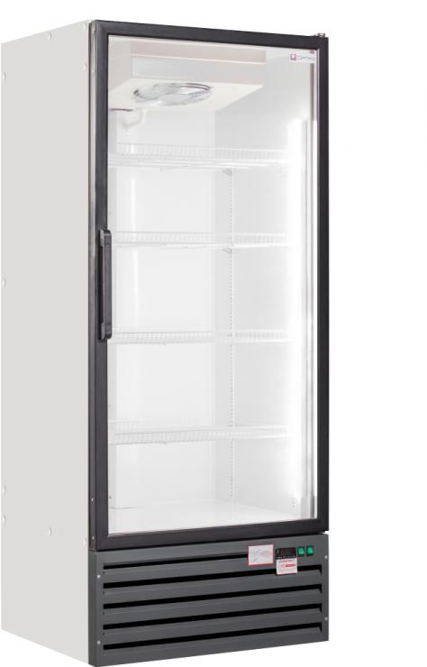 Шкаф морозильный со стеклянными дверьми Optima crystal 5L